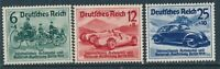 Stamp Germany Mi 686-8 Sc B134 1939 WWII Auto Exposition Berlin Mercedes Benz MH