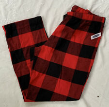 Old Navy Womens Flannel Pajama Sleep Bottom Red/Black Buffalo Plaid Sz XL NWT