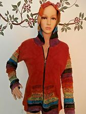 Hooded Zip Up Women's Bohemian Jacket Size Small/Medium by Creater Good Network