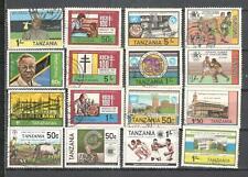 S8914 - TANZANIA 1983 - LOTTO 15 TEMATICI DIFFERENTI - VEDI FOTO