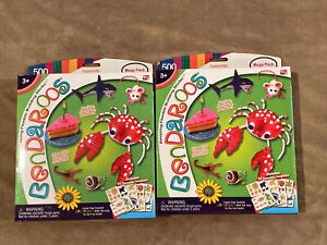 x2 Bendaroos 500 Piece Mega Set Amazing Flexible Building Sticks Brand New