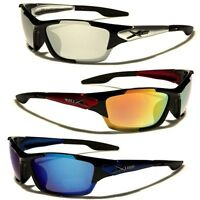 Wrap Around Mens Mirror Lens Sports Sunglasses Cycling Running Hiking Ski Surf