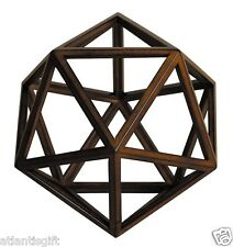 Icosahedron 3D Geometric Ether - Aether Wooden Model by Authentic Models New