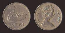 FIJI 5 CENTS 1981 FIJIAN DRUM