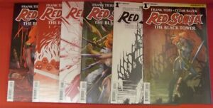 RED SONJA BLACK TOWER 1-4 DYNAMITE A B&W RED VARIANT COMIC SET COMPLETE 2014 NM