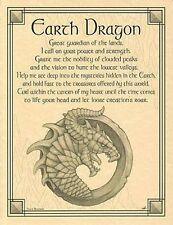 """Earth Dragon Poster   Wicca - Pagan - New Age - Celtic 8 1/2"""" x 11"""""""