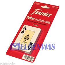 CARTAS BARAJA POKER FOURNIER Nº 611 ORIGINAL 55 NAIPES CALIDAD