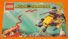 Lego Set 7770 INSTRUCTIONS ONLY Aqua Raiders Angler Ambush Manual Booklet Water