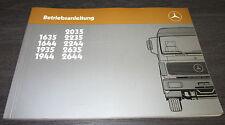Manuale di istruzioni CAMION MERCEDES 1635 1644 1935 - 2644 NG 80 nuova generazione 1986