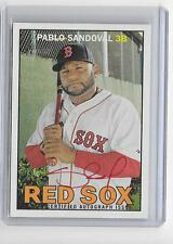 PABLO SANDOVAL  2016 TOPPS HERITAGE RED INK AUTOGRAPH AUTO -not numbered -rare