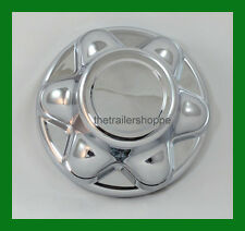 "Quick Trim ABS Chrome Hub Cover Trailer Wheel 14"" 15"" 16"" Rims with 6 Lugs"