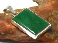 Green  AVENTURINE  Sterling  Silver  925  Gemstone  PENDANT -  Hallmarked