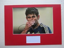 ATLETICO MADRID - SPAIN DIEGO COSTA HAND SIGNED A3 MOUNTED PHOTO DISPLAY - COA