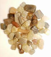 40-55 pcs Moonstone Tumbled 1/4 lb bulk stones