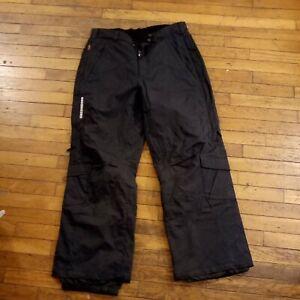 Obermeyer Mach1 Gravity Black Ski Snowboarding Pants mens sz Large GUC