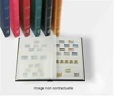 CLASSEUR TIMBRES FOND BLANC 16 PAGES