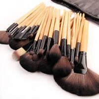 New Brown 32 Pcs Makeup Beauty Brushes Set Soft Bag Eye Shadow Case For Bobbi