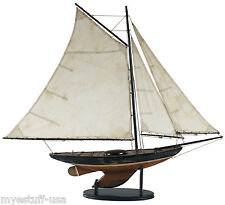 Newport Sloop 39 inch Wooden Sailboat by Authentic Models AS168