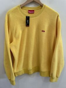 Supreme Polartec Fleece Pullover Sweater Mens Medium NWOT Yellow