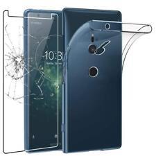 Pour Sony Xperia XZ2 COMPACT Coque en Gel Silicone Transparent + 1 verre trempé