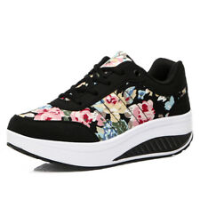 Women's Platform Shoes Sports Lace UP Walking Sneakers Shape Ups Running Fitness