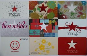 9 Macy`s Department Store Star Flowers Empty Gift Card Collectible Lot New