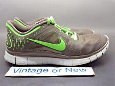 Women's Nike Free Run+ 3 Grey Lime Green Running Shoes 510643-202 sz 7