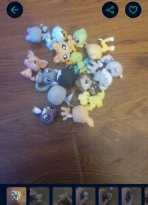 littlest pet shop lot of 16 with carrying case