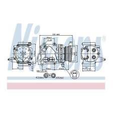Fits Ford Mondeo MK3 2.0 16V Genuine OE Quality Nissens A/C Air Con Compressor