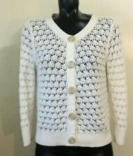 Old Navy Cream Knit Big Button Down Sweater Cardigan Large