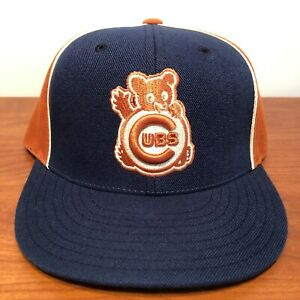 Chicago Cubs Hat Baseball Cap Fitted 7 1/2 American Needle MLB Retro Rare Bear