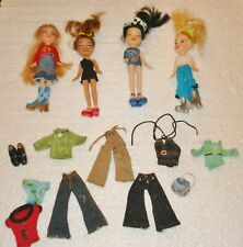 Lil Bratz Dolls Lot of (4) with accessories