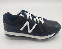 Kid's New Balance 4040v5 Black and White Baseball Cleat Size US 2.5
