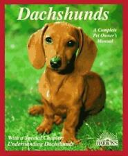 Dachshunds: How to Understand and Take Care of Them Barron's Pet Owner's Manual