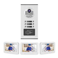 Video Türsprechanlage Sprechanlage RFID Gegensprechanlage 3-Familienhaus Set