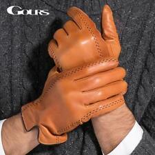 Genuine Leather Gloves for Men Warm Black Brown Gloves for Winter