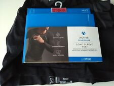 MENS M&S Collection Active Long Sleeve Vest BNWT SIZE 2XL FREE POST