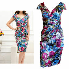 Hand-wash Only Floral Dresses for Women with Cap Sleeve