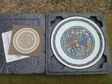 Vintage 1981 D'Arceau Limoges Noel Vitrail THE THREE KINGS Andre Restieau Plate