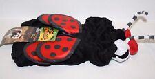 LADYBUG HALLOWEEN COSTUME XS X SMALL DOG Red Black Plush Polka Dot Wings Top Paw