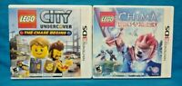 LEGO Chima + LEGO City Chase Begins ~ Nintendo DS DS Lite 3DS 2DS Lot Tested
