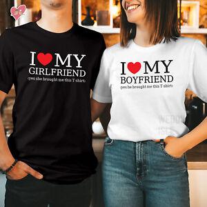 I Love My Girl T Shirt Couples Valentines Day Gift Ideas Boyfriend Girlfriend