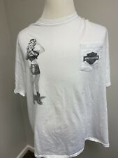 Harley-Davidson Cowboy Beaumont, Texas Men's Size 3XL T-Shirt With Girl RARE!!