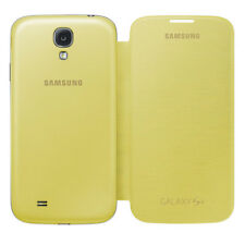 Cover Case Samsung Galaxy S4 FLIP Display and Power Yellow ORIGINAL