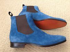 New Rare Santoni Blue Boots Shoes Size UK 7,5 EU 41,5 US 8,5