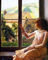 Edith Perry at the Window by Lilla Cabot Perry. Canvas Children.  11x14 Print