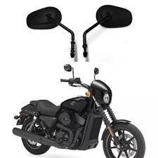 Long Stem Black Motorcycle Mirrors For Harley Davidson Street 750 Street Glide F