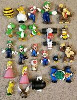 Lot Of 23 Nintendo Mario, Donkey Kong, Yoshi, Luigi, Bomb Figures & Figurines