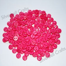 200 x 9mm small Pink buttons sewing Craft tiny resin button knitting doll crafts