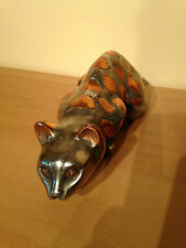 ADORABLE VINTAGE STAINLESS  STEEL JAPANESE CAT